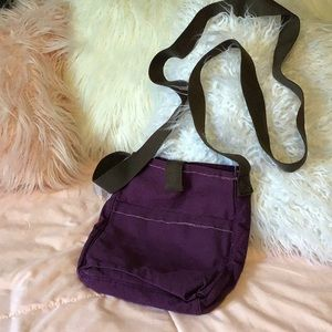 31 Thirty-one Purple Corduroy Crossbody Bag